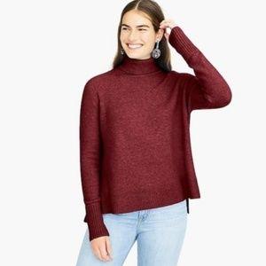 J. Crew Side Slit Supersoft Turtleneck Sweater XXS